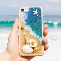 Disegno 핸드메이드 바다 핸드폰케이스(푸른섬)