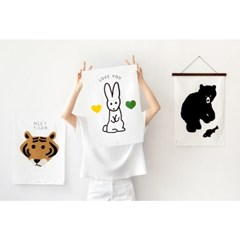 BUNNY FABRIC POSTER