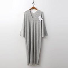 Hoega Cashmere N Wool V-Neck Do Long Dress