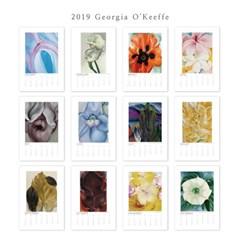 [2019 명화 캘린더] Georgia O'Keeffe 조지아 오키프 Type B