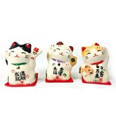 [일본]복을 부르는 마네키네코(복고양이세트)3종x8개-T7145
