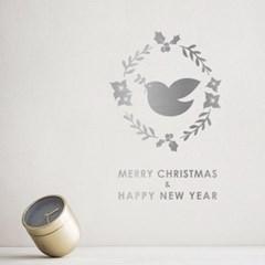 크리스마스 리스 스티커 xms014