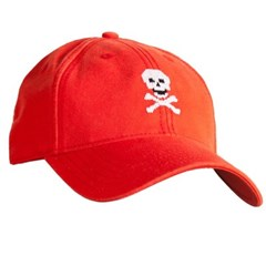[Hardinglane]Adult`s Hats Skull and Bones on neon red