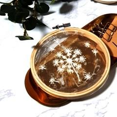투명 꽃 식물 민들레 홀씨 액자 틀 프랑스자수 패키지 도안 diy 세트
