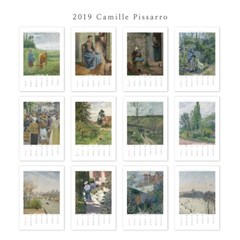 [2019 명화 캘린더] Camille Pissarro 까미유 피사로 Type B