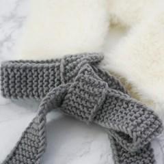앙고라 사각 케이프 - 대바늘 키트