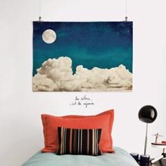 패브릭 포스터 F165 우주 달 액자 Full moon 보름달