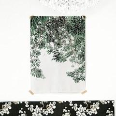 패브릭 포스터 F119 식물 태피스트리 나무 그늘 A