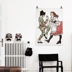 패브릭 포스터 F087 인테리어 춤 그림 액자 할리퀸