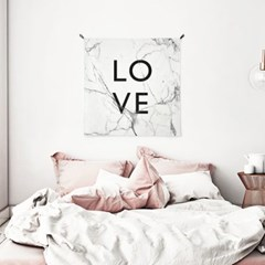 패브릭 포스터 S014 레터링 love 액자 마블 러브