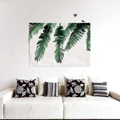 패브릭 천 포스터 F154 식물 태피스트리 열대 나뭇잎
