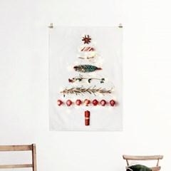 패브릭 포스터 F238 인테리어 액자 크리스마스 트리 B