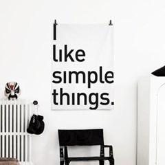 패브릭 포스터 F238 레터링 명언 액자 Simple things