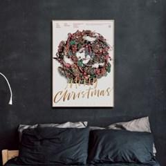 메탈 인테리어 트리 포스터 액자 크리스마스 리스
