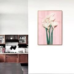 메탈 보타니컬 식물 꽃 인테리어 포스터 액자 백합