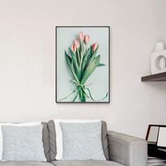 메탈 식물 꽃 인테리어 아트 포스터 액자 튤립