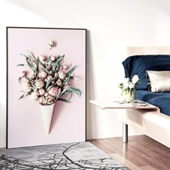 메탈 식물 꽃 인테리어 포스터 액자 아이스크림 꽃