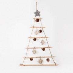 인테리어 소품 크리스마스 심플 우드 벽트리_(1785611)