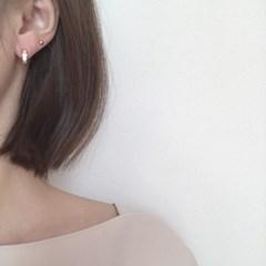 [로즈골드 자개 링 귀걸이] 로즈필 이어링
