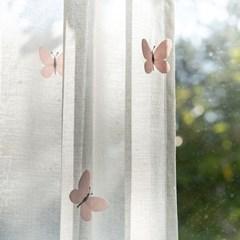 나비자수 프리미엄 화이트 속커튼_(761554)