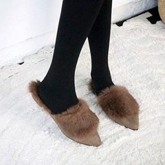kami et muse Rich fur suede slim slippers _KM18w190