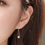 14K 귀걸이 써클스웨이(핑크골드)