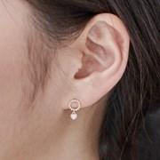 14K 귀걸이 누디하트(핑크골드)