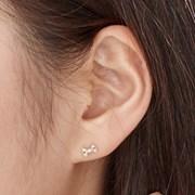 14K 귀걸이 킨트리본(핑크골드)