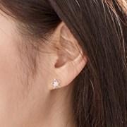 14K 귀걸이 에뚜알(핑크골드)