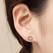 14K 귀걸이 시스루(핑크골드)