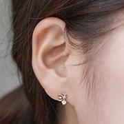 14K 귀걸이 하트송송(핑크골드)
