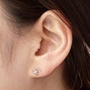 14K 귀걸이 리틀리본(핑크골드)