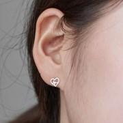 14K 귀걸이 콩닥(핑크골드)