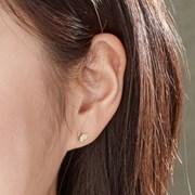 14K 귀걸이 언밸나비(핑크골드+옐로우골드)