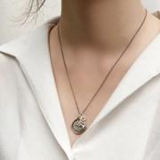 Vincent coin necklace + Silhouette charm