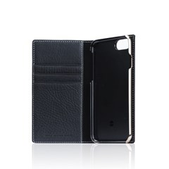 D6 Italian Minerva Box Leather Case for iPhone 8 / 7 Black