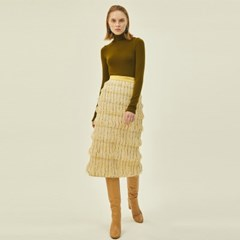 Amanda Midi Skirt in Cream