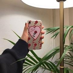 [뮤즈무드] rose holiday (clear) 아이폰케이스