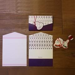 아이씨엘 크리스마스 태그 카드-hello 3set