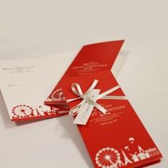 아이씨엘 크리스마스 카드-red