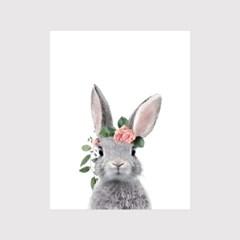 꽃화관 동물포스터