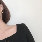 [무광 드롭 귀걸이] 파이 이어링