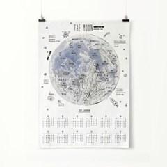 2019 패브릭 포스터 벽걸이 북유럽 달력 달 지도