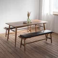 [찰스퍼니처] 렌토 원목 테이블 1600 세트