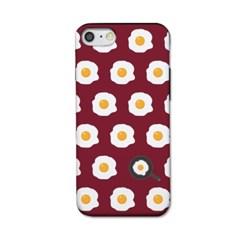 [봉봉] 계란후라이 패턴 딥레드 S3152F SL 케이스_(2174271)
