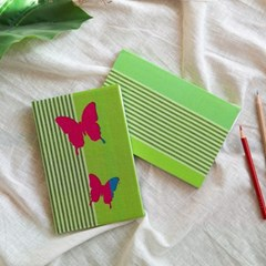[패브릭패쉬] 음각노트 나비