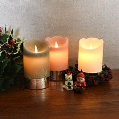크리스마스 LED 캔들(중)