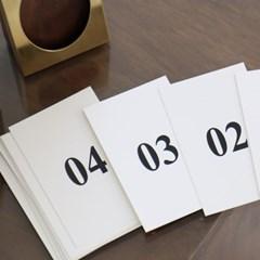 calendar _ on the table (deep green)