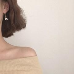 [진주 원터치 드롭 귀걸이] 올리 이어링
