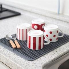 구디푸디 실리콘 드라잉매트 식기건조 설거지 주방용품